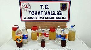 Tokat'ta 22 litre sahte içki ele geçirildi
