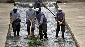 Tokat'ta Behzat Deresi temizleniyor