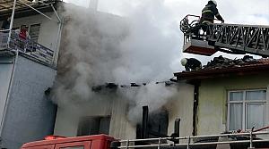 Tokat'ta yangın çıkan evde hasar oluştu
