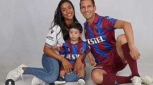 Trabzonspor ile yolları ayrılan Pereira ve eşi Natacha Esmail'den teşekkür mesajı