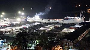 Ukrayna'dan gelen tır şoförleri Zonguldak'ta öğrenci yurduna yerleştirildi