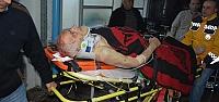 Aydınlatma direğinden düşen kişi yaralandı