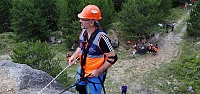 Bolu'da AFAD gönüllüleri dağcılık ile hafif arama ve kurtarma eğitimi aldı