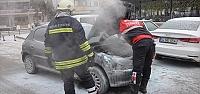 Bolu'da araç yangını