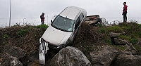 Çaycuma'da trafik kazası: 1 yaralı