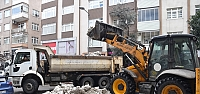 Ereğli'de kar temizleme çalışmaları...