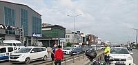 Kocaeli'de otomobilin çarptığı motosiklet sürücüsü yaralandı