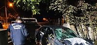Samsun'da devrilen otomobilin sürücüsü...