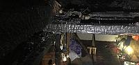 Taşköprü'de yangın sonucu bir evde hasar...