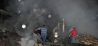 Zonguldak'ta kereste fabrikasında yangın