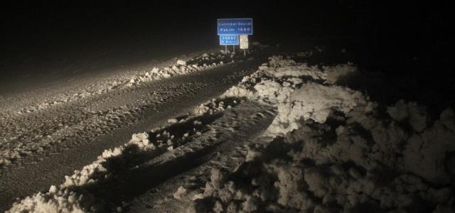 Tokat'ın yüksek kesimlerinde kar yağışı