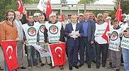 Çarşamba Şeker Fabrikası önünde eylem yapıldı