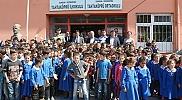 Vezirköprü ilçesinde köy okulunda kütüphane açıldı