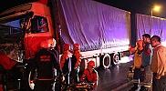 Bolu'da tır kamyona çarptı: 1 yaralı