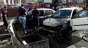 Tokat'ta konteyner yangını otomobillere sıçradı