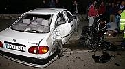Düzce'de motosiklet otomobile çarptı: 1 ölü, 4 yaralı