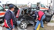Hasta taşıyan ambulans kaza yaptı: 5 yaralı