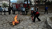 Safranbolu'da yangın söndürme eğitimi