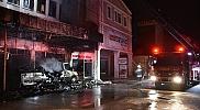 Samsun'da mobilya mağazası ve imalathanesinde yangın