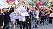 Tekstil işçileri eylem yaptı
