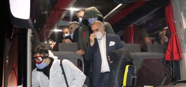 Yurt dışından gelen yolcular Bolu'daki öğrenci yurduna yerleştirildi