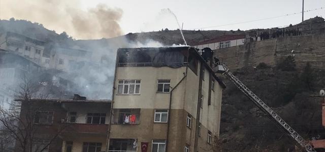 Yusufeli ilçesinde yangın hasara yol açtı