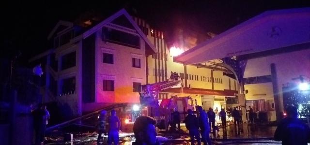 Zonguldak'ta fındık fabrikasında yangın