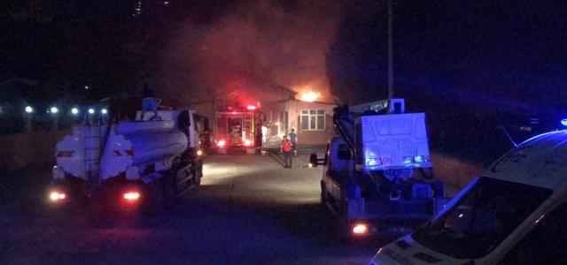 Zonguldak'ta pazar yerinde yangın