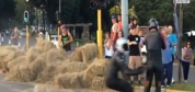 Kaykay yarışında zincirleme kaza